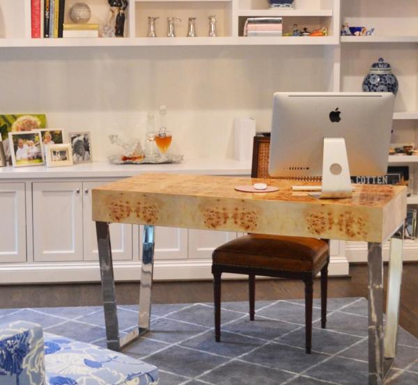 Burl Wood Desk