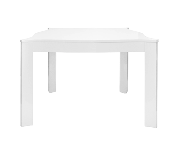 White lacquer sq table straight