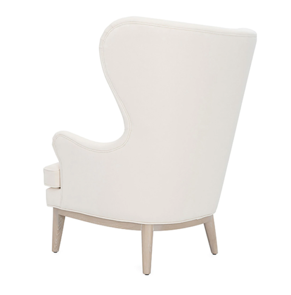 Frisco Ivory wing chair back side view