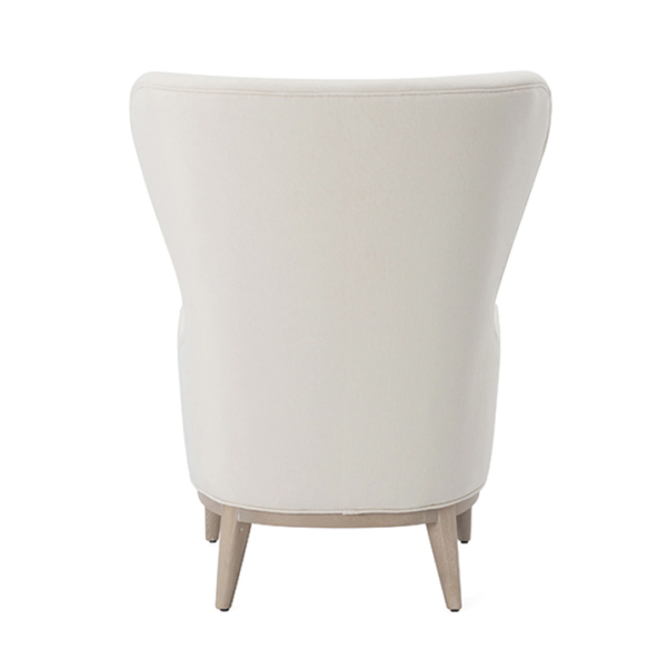 Frisco Ivory wing chair backside view