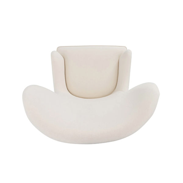 Frisco Ivory wing chair top view