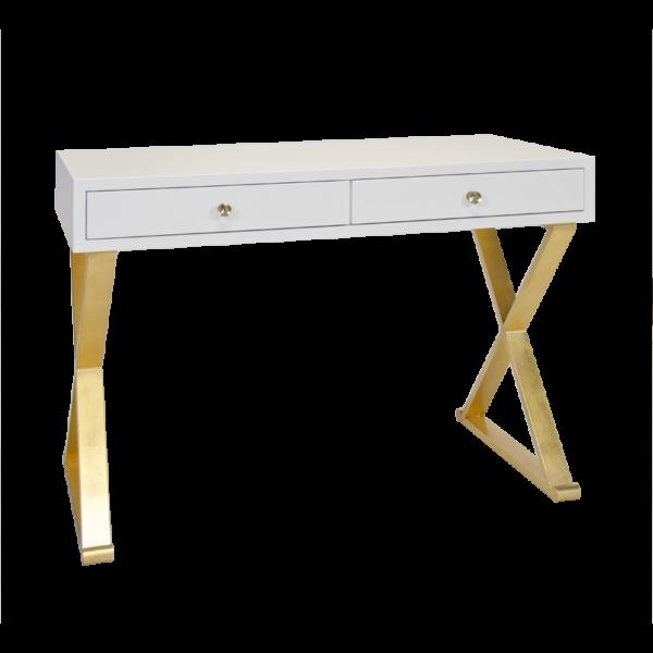 White lacquer desk
