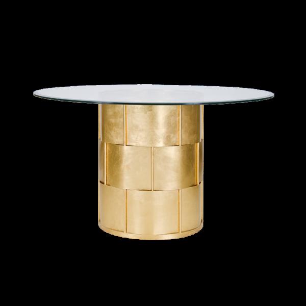 Gold Leaf Basket weave dining table