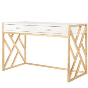 Cordelia White Lacquer Desk