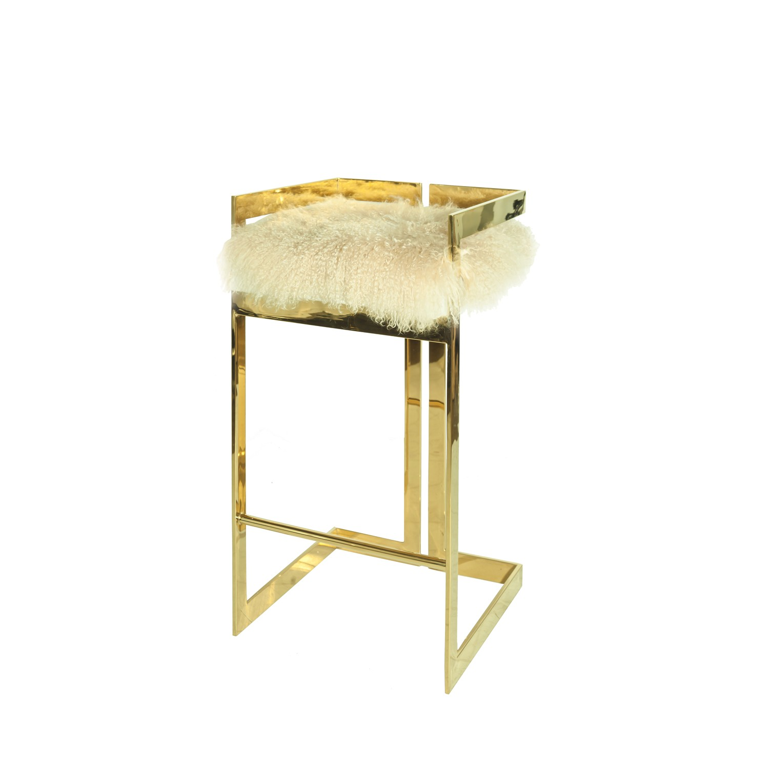 Wondrous Hearst Counter Stool With Mongolian Fur Seat Pabps2019 Chair Design Images Pabps2019Com