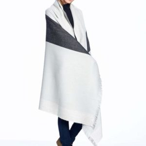 Monochrome Alpaca throw