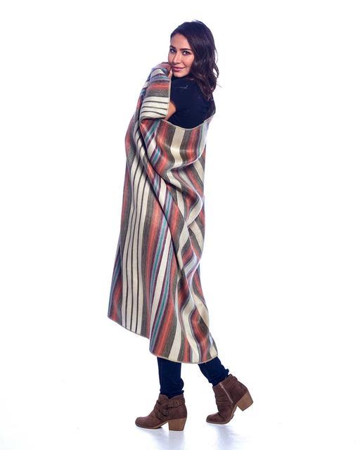 Oasis alpaca throw wrapped