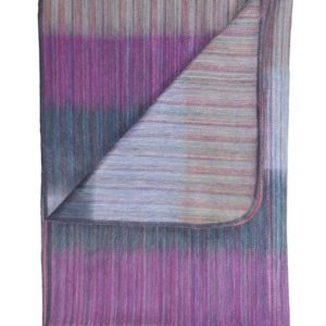 Patchwork alpaca throw folded