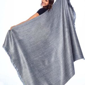 Pewter Sky Alpaca Throw backside