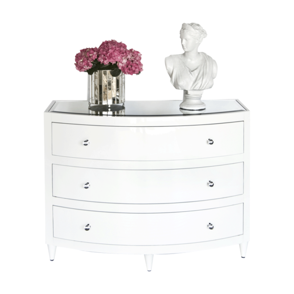 White Lacquer 3 drawer chest