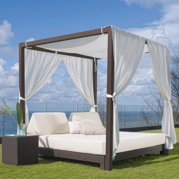 outdoor daybed with canopy outdoor canopy daybed with side table katzberry home decor 31333