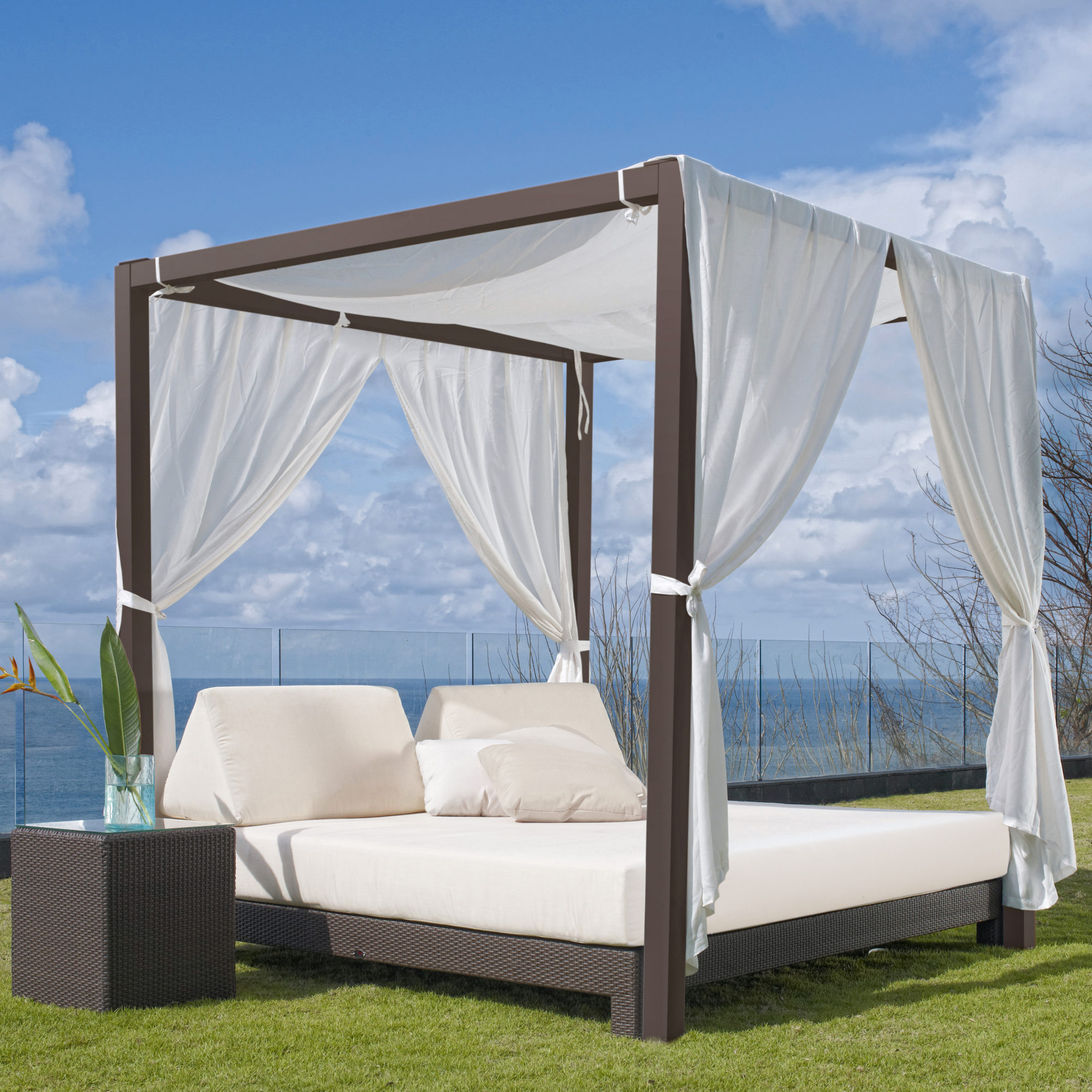 - Canopy Outdoor Daybed & Table - Shop Comfortable Outdoor Furniture
