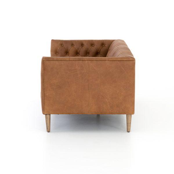 Astonishing Williams Leather Sofa In Camel Color Evergreenethics Interior Chair Design Evergreenethicsorg