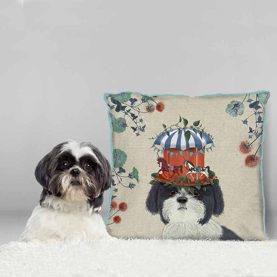 Milliners Collection Shih Tzu Pillow Katzberry Home Decor