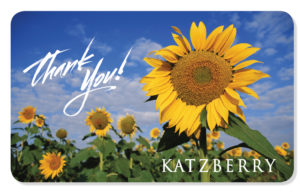 Thank you eCard with Sunflowers