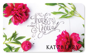 Thank you eCard with pink flowers