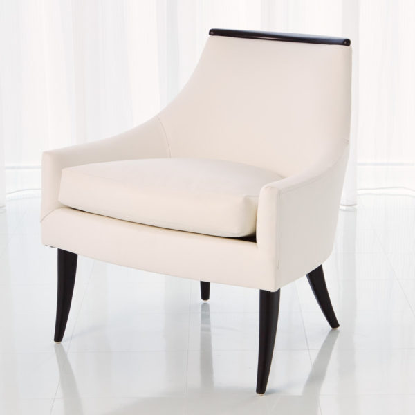 Boomerang white leather chair