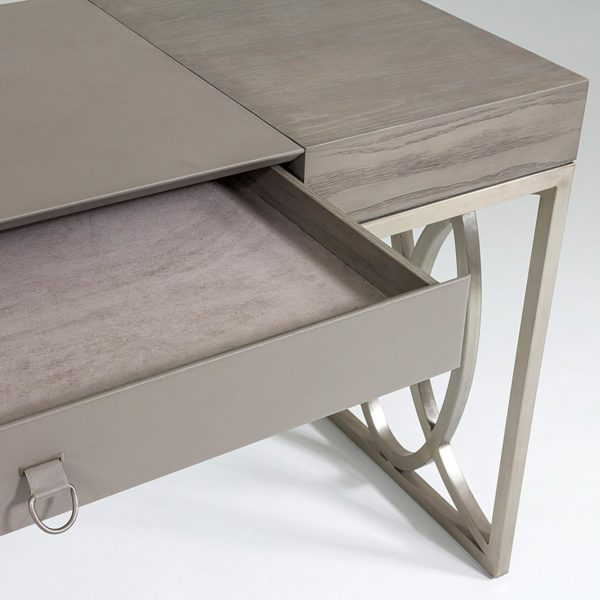 Holborn desk closeup of open drawer
