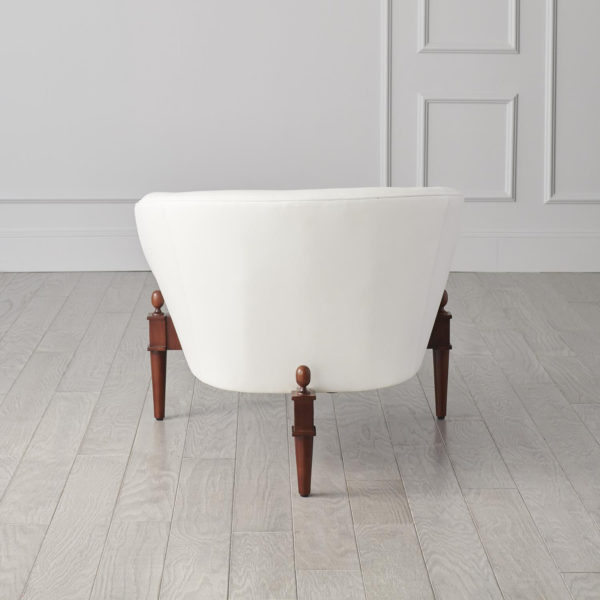 Mimi chair in White Leather backside
