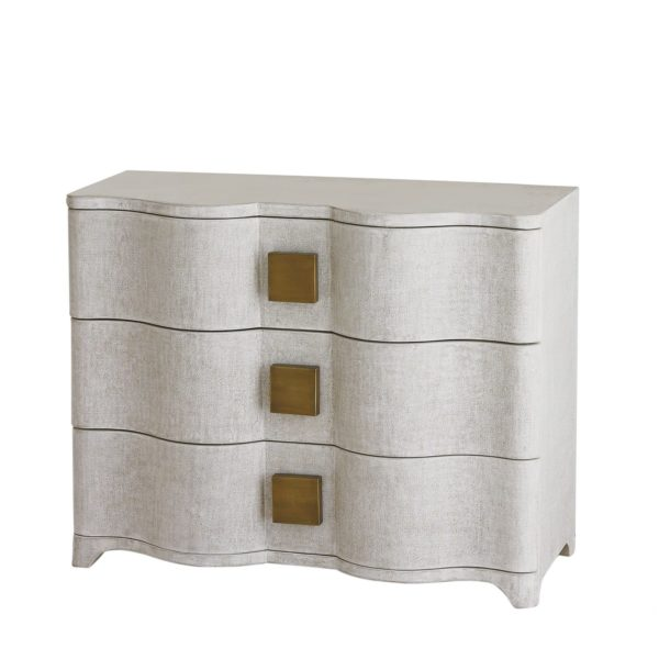 Toile Linen Chest in white