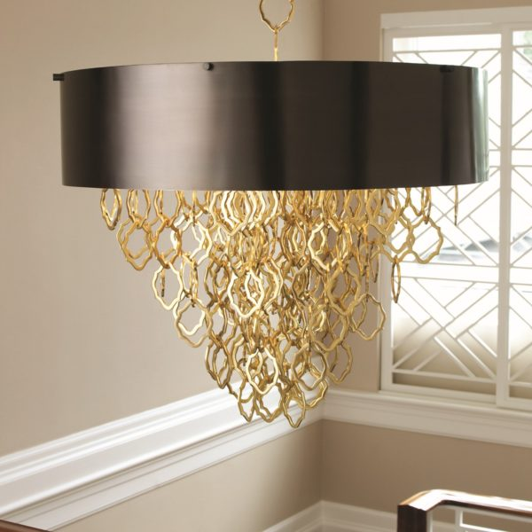 Chain Pendant Chandelier in Brass
