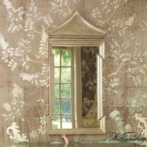 Fincastle Mirror in antique silver