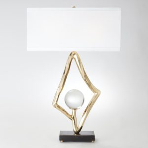 Abstract Lamp in Brass