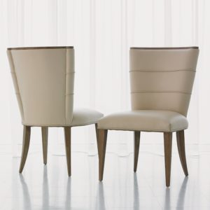 Adelaide Chair in Beige Leather