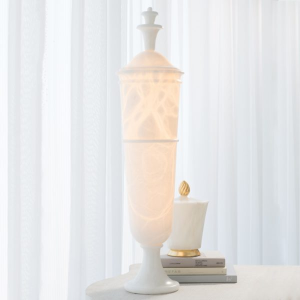 Alabaster Lighted Urn