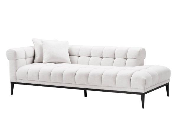 Sophia White Upholstered tufted Lounge sofa