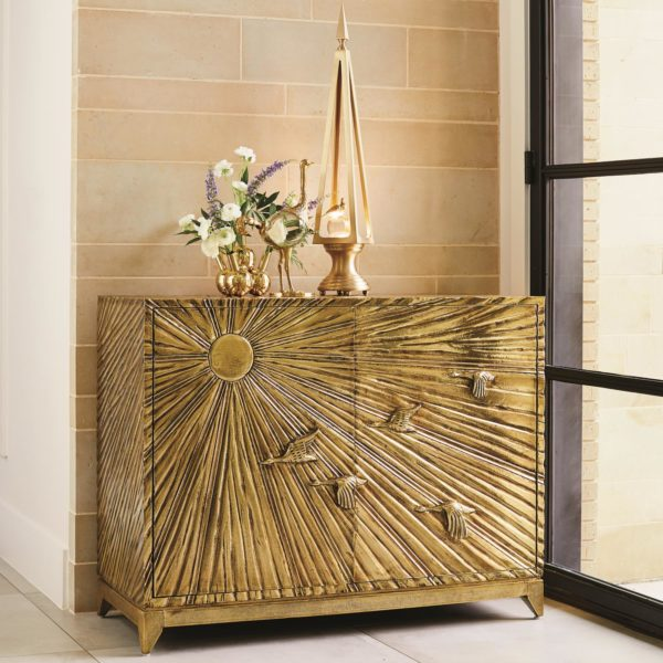 Birds in Flight Brass Cabinet
