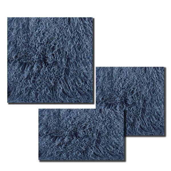 BlueGrey Mongolian Fur Pillow