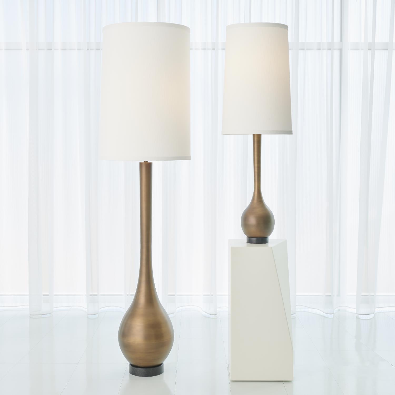 Bulb Floor Lamp In Light Bronze Finish Katzberry Home Decor