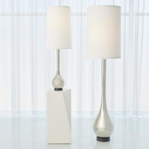 Bulb Vase Floor Lamp in Nickel finish
