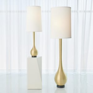 Bulb Vase Floor Lamp in Antique Brass finish