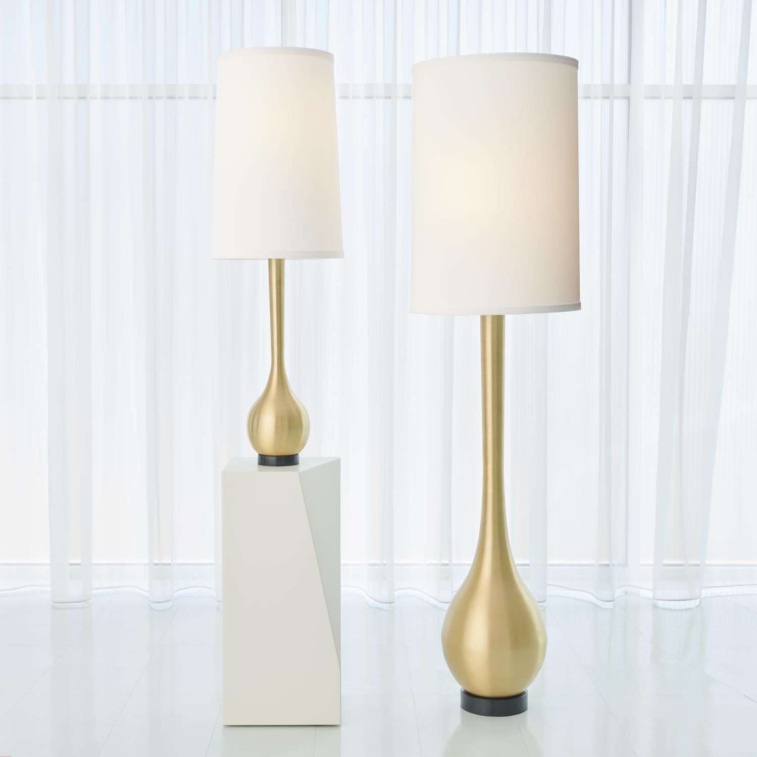 Bulb Vase Table Lamp In An Antique Brass Finish Katzberry Home Decor