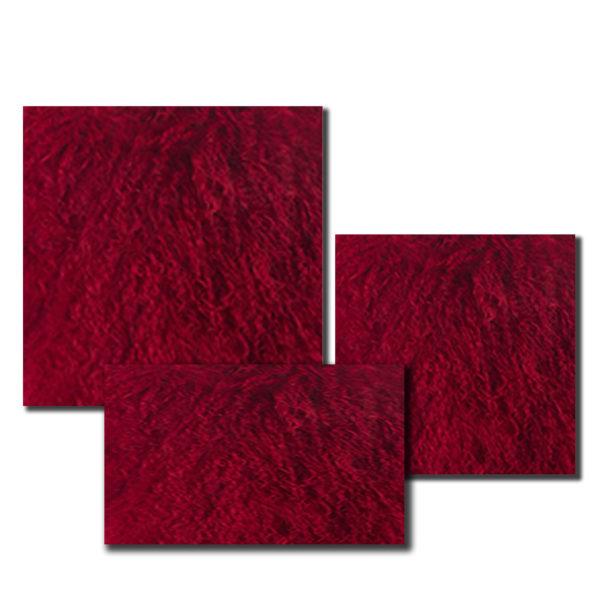 Red mongolian pillow size comparison