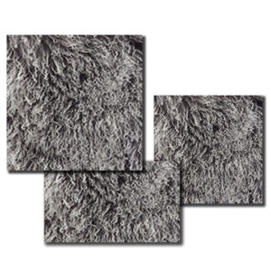 Mongolian fur Pillow in a deep Charcoal color