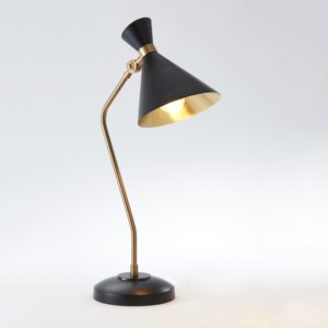 Cone Desk Lamp in Bronze Finish