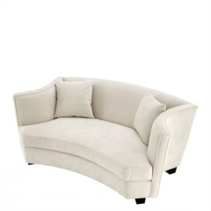 Julieta Loveseat in Cream Velvet