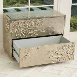 Flower Burst Silver Cabinet