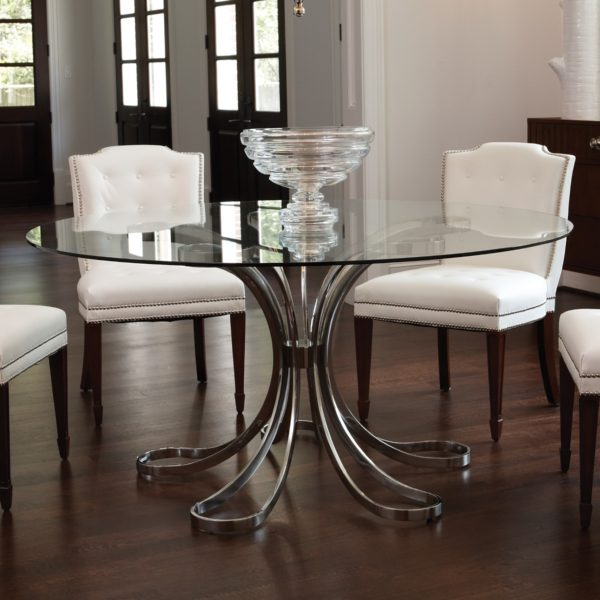 Flower shaped Stainless steel dining table