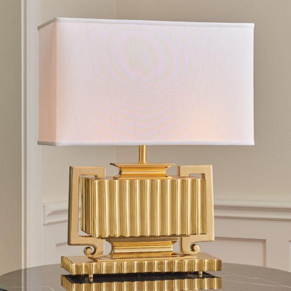 Fluted Brass Urn Lamp