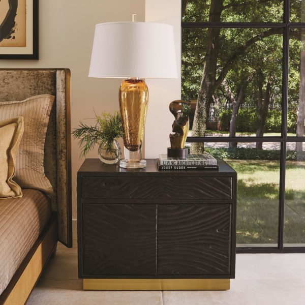 Quilted Leather Side Cabinet