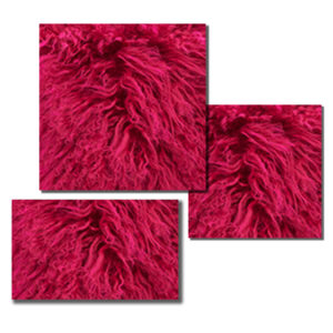 Bright Fuchsia Mongolian Fur pillow