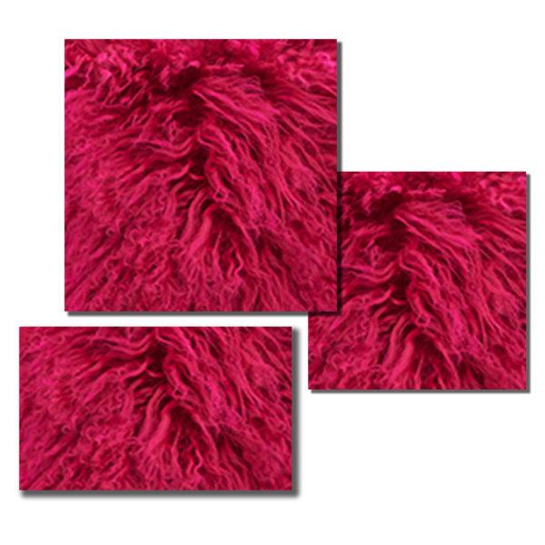Bright Fuchsia Mongolian Fur pillow