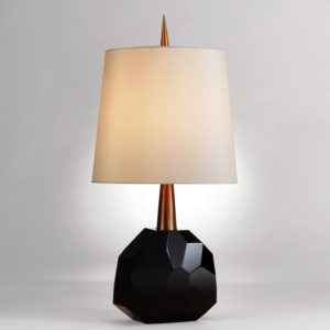 Black Crystal Table Lamp