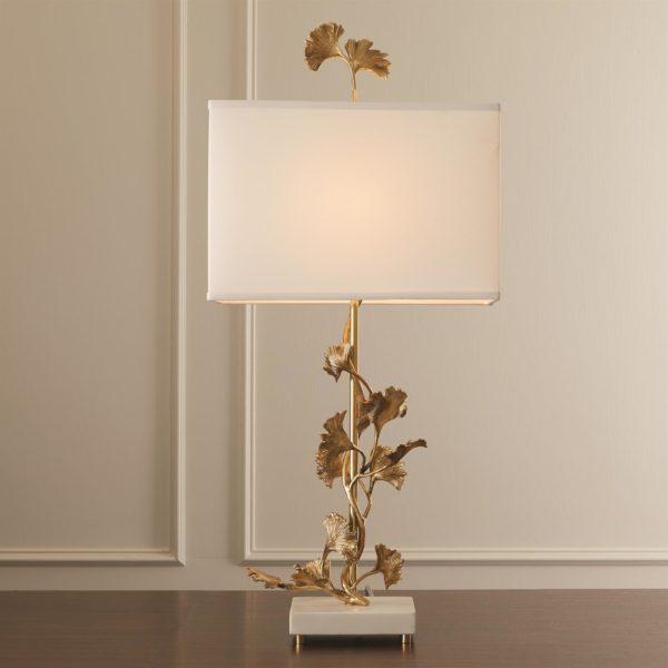 Ginkgo Tree lamp in brass