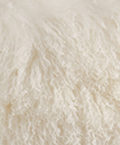 Mongolian fur Pillow in a rich Ivory color
