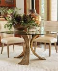 Lotus Dining Table in Antique Brass